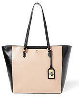 Lauren Ralph Lauren Newbury Collection Halee Color Block Tote