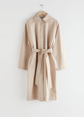 And other stories Belted Oversized Canvas Coat
