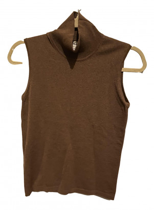 Hermes Brown Cashmere Tops