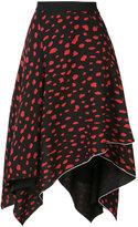 Proenza Schouler leopard print asymmetric skirt - women - Silk/Acetate/Viscose - 2