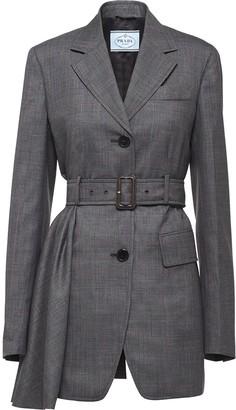 Prada belted long blazer