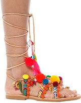 Elina Linardaki Penny Lane Pom Pom Sandals