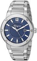 Salvatore Ferragamo Men's FIF030015 F-80 Analog Display Quartz Silver Watch