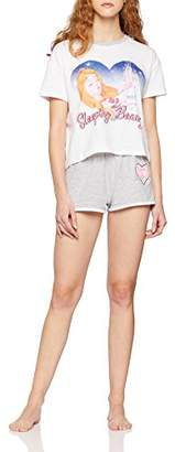 New Look Women's 5813523 Pyjama Sets, (White 10), (Size:52)