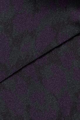 Eres Leopard-print Silk-blend Satin Soft-cup Bra - Black