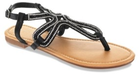 OLIVIA MILLER Cute and Crafty Embellished Sandals Women's Shoes