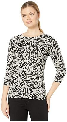Tribal 3/4 Sleeve Raglan Top (Oatmeal) Women's Clothing