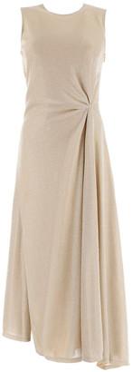 Lanvin Sand Beige Midi Dress