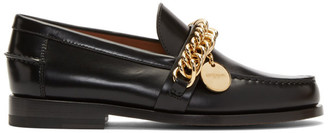 Givenchy Black Chain Charm Loafers