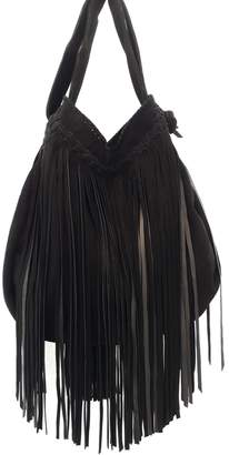 Areias Leather Black Suede Bag