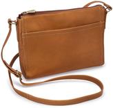 Le Donne Tan Finte Leather Crossbody Bag