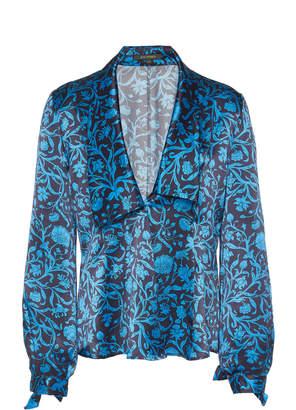 Zac Posen Floral-Print Silk Blouse