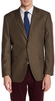 Tommy Hilfiger Ethan Brown Plaid Two Button Notch Lapel Jacket