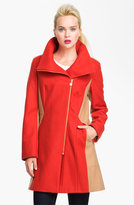 Calvin Klein Two Tone Asymmetrical Walking Coat