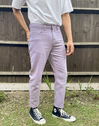 ASOS DESIGN classic rigid jeans in lilac