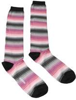 Missoni Gm00cmd5453 0001 Pink/black Knee Length Socks.