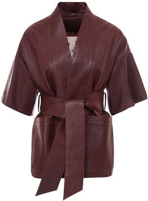 L'Autre Chose Belted Short-Sleeved Jacket