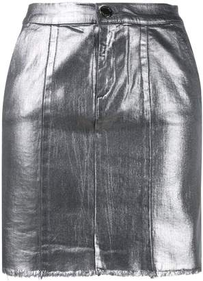Pinko metallic mini skirt