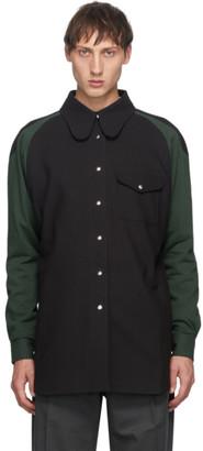 Keenkee Black and Green Curves Shirt