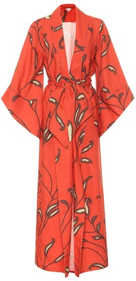 Johanna Ortiz Soul Quest floral linen kimono