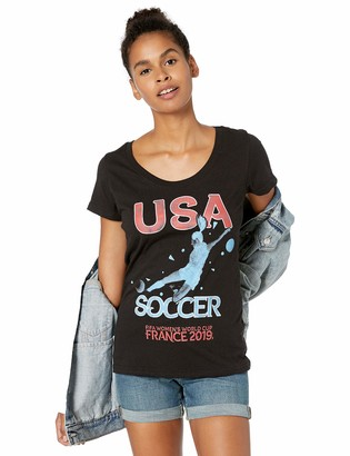 Fifth Sun Junior's FIFA Women's World Cup France 2019 USA Scoop Neck T-Shirt