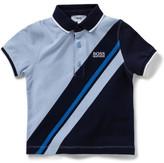 HUGO BOSS Boys Short Sleeve Banner Stripe Polo