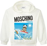 Moschino Graphic Sweat Top With Hood (Kid) - Cloud - 4