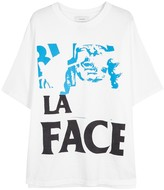 Facetasm White Printed Cotton T-shirt