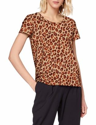 Scotch & Soda Women's Printed Boxy Fit Tee T-Shirt