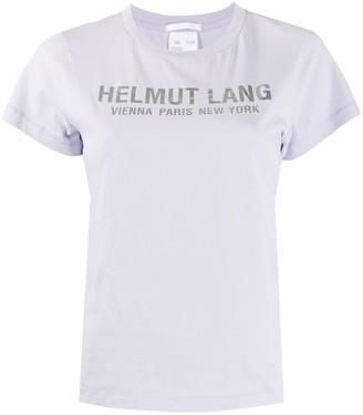 Helmut Lang logo print short sleeve T-shirt