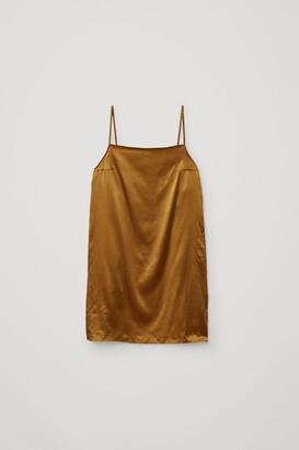 Cos Mulberry Silk Slip Dress