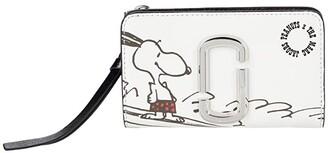 Marc Jacobs Snapshot Peanuts Americana Compact Wallet (White Multi) Wallet Handbags