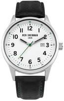 Ben Sherman Men's Quartz Leather Strap Watch