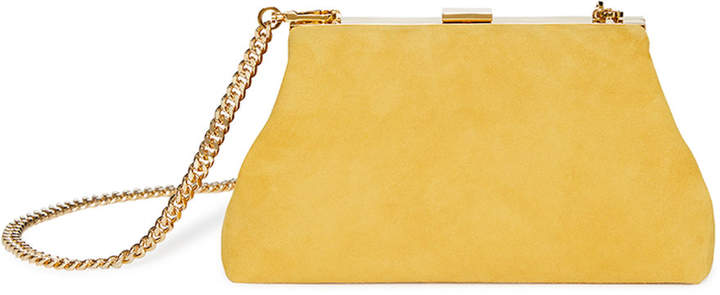 Mansur Gavriel Mini Volume Suede Clutch Bag