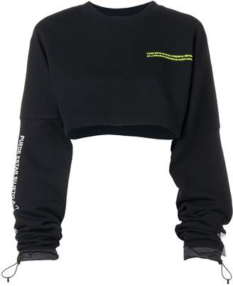 Marcelo Burlon County of Milan cropped sweatshirt