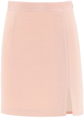 Alessandra Rich Tweed Mini Skirt