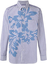 Comme des Garcons striped floral shirt - men - Cotton - S