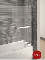 Aqualux Aqua 4 Square Bath Screen With Towel Rail - 137.5 X 75 Cm