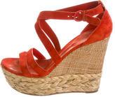 Casadei Suede Wedge Sandals