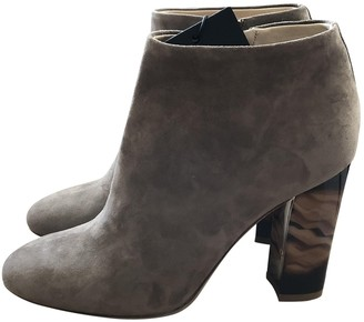 Burberry Grey Suede Ankle boots