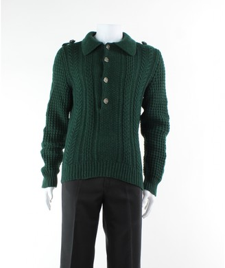 Gucci Green Wool Trousers