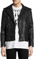 Neil Barrett Studded Leather Biker Jacket, Black