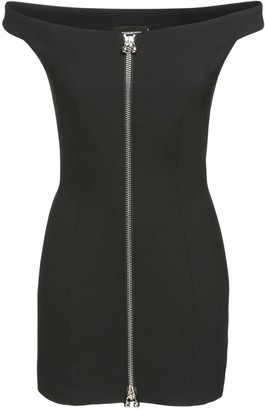 DSQUARED2 Icon Stretch Wool Zip Mini Dress