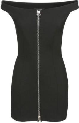 DSQUARED2 Stretch Wool Zip Mini Dress