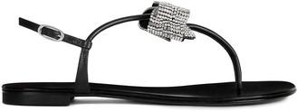 Giuseppe Zanotti Bow-Detail Crystal-Embellished Sandals