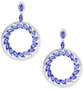 Effy Tanzanite Royalandeacute; by EFFYandreg; Tanzanite (4-1/3 ct. t.w.) and Diamond (1/3 ct. t.w.) Drop Earrings in 14k White Gold