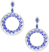 Effy Tanzanite Royalé by Tanzanite (4-1/3 ct. t.w.) and Diamond (1/3 ct. t.w.) Drop Earrings in 14k White Gold