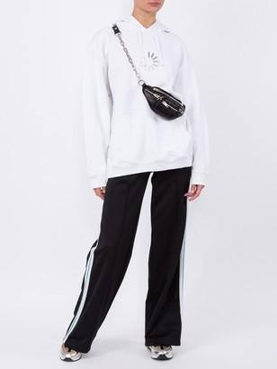 Off-White Wide Leg Side Stripe Track Pants Black