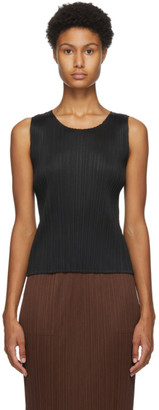 Pleats Please Issey Miyake Black Basics Tank Top