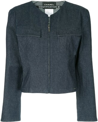 Chanel Pre Owned Collarless Zipped Jacket